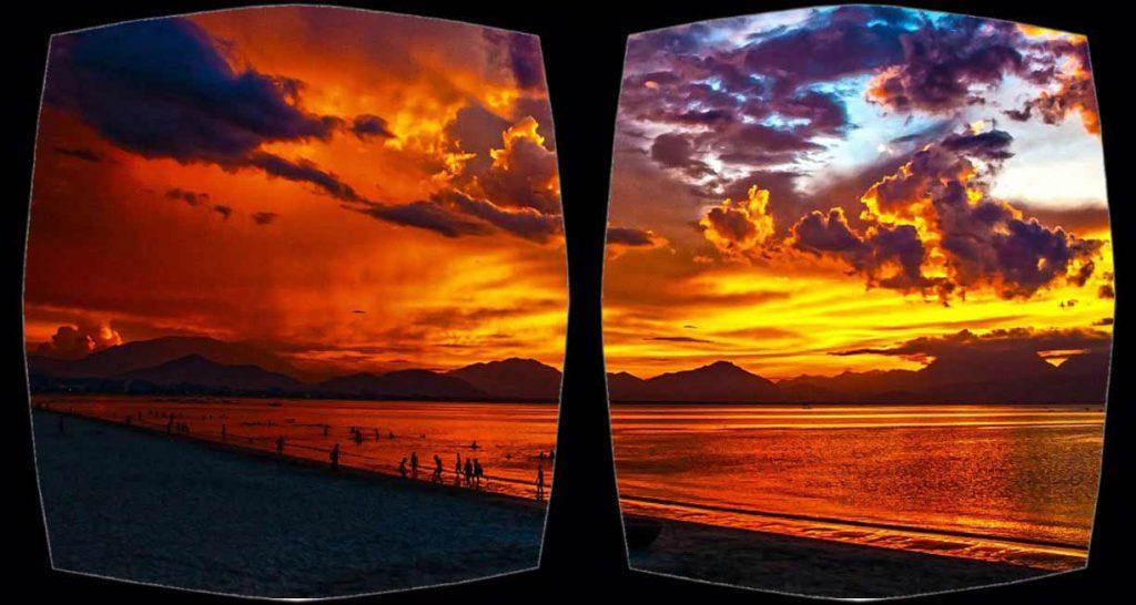 VR Sunburn: Composite with original CC0 image fromhttps://pixabay.com/en/beach-lagoon-sunset-sundown-164288/