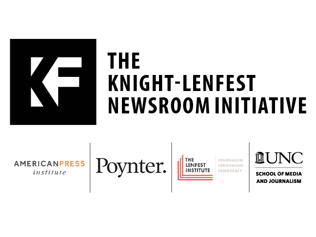 Knight-Lenfest Newsroom Initiative support logos