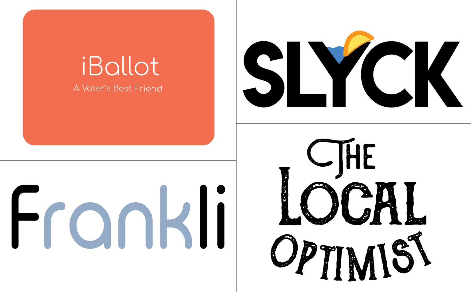 Logos of student pitches