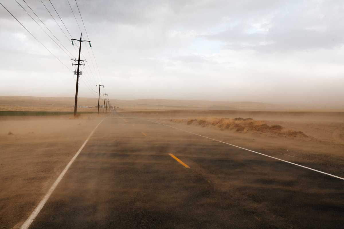 Desolate desert road